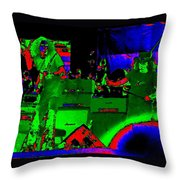 Cosmic Allen And Ronnie In Oakland 1975 Playing The Blues 2 Throw Pillow