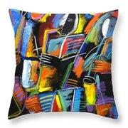 Cosmic Birth Of Jazz Throw Pillow