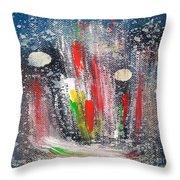 Cosmic Blue 67 Throw Pillow