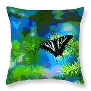Cosmic Butterfly In The Pines Throw Pillow