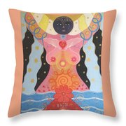 Cosmic Carnival I V Aka Creation Throw Pillow