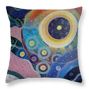 Cosmic Carnival Vl Aka Circles Throw Pillow