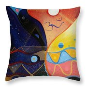 Cosmic Carnival Vlll Aka Sacred And Profane Throw Pillow
