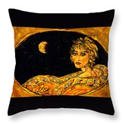 Cosmic Child Throw Pillow