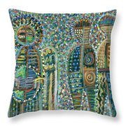 Cosmic Creation Of Adam And Eve Throw Pillow