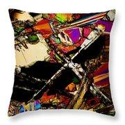 Cosmic Cross Throw Pillow