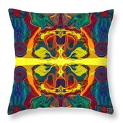 Cosmic Designs Abstract Pattern Artwork Throw Pillow