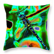 Cosmic Dragonfly Art 1 Throw Pillow