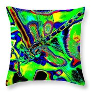 Cosmic Dragonfly Art 2 Throw Pillow