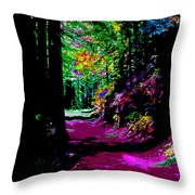Cosmic Energy Of A Redwood Forest On Mt Tamalpais Throw Pillow
