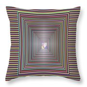 Cosmic Energy Tunnel Infinity Healing Art Background Designs  And Color Tones N Color Shades Availab Throw Pillow
