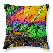 Cosmic Explosion Throw Pillow