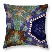 Cosmic Flight Of Dragon Throw Pillow