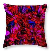 Cosmic Flower Wall Throw Pillow