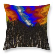 Cosmic Forces Throw Pillow
