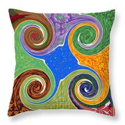 Cosmic Healing Energy  Source Imagination Connection Tuning Faith Belief Mandala Chakra Reiki Karuna Throw Pillow
