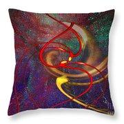 Cosmic Kiss Throw Pillow