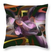 Cosmic Lightning Pastel Abstract Throw Pillow