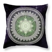 Cosmic Medallions Earth Throw Pillow