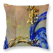 Cosmic Mitochondria Throw Pillow