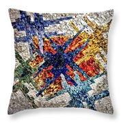 Cosmic Mosaic Throw Pillow