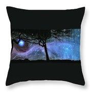 Cosmic Night Throw Pillow
