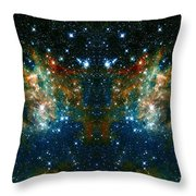 Cosmic Phoenix  Throw Pillow