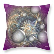 Cosmic Purple Throw Pillow
