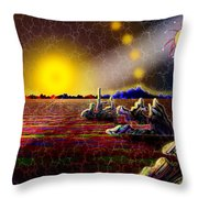 Cosmic Signpost Throw Pillow
