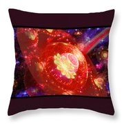 Cosmic Space Station Throw Pillow