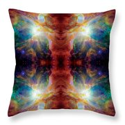 Cosmic Spine Deep Space Reflection Throw Pillow