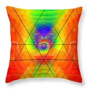 Cosmic Spiral Ascension 01 Throw Pillow