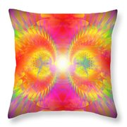 Cosmic Spiral Ascension 02 Throw Pillow