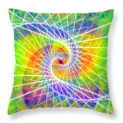 Cosmic Spiral Ascension 03 Throw Pillow