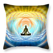 Cosmic Spiral Ascension 04 Throw Pillow