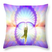 Cosmic Spiral Ascension 07 Throw Pillow
