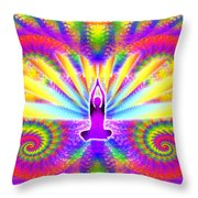 Cosmic Spiral Ascension 09 Throw Pillow