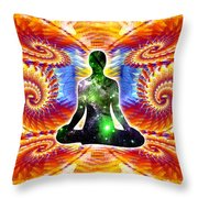 Cosmic Spiral Ascension 10 Throw Pillow