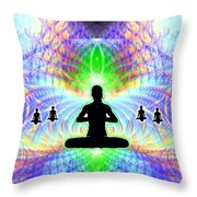 Cosmic Spiral Ascension 11 Throw Pillow