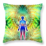 Cosmic Spiral Ascension 12 Throw Pillow