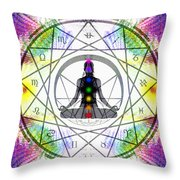 Cosmic Spiral Ascension 14 Throw Pillow