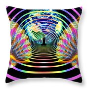 Cosmic Spiral Ascension 16 Throw Pillow
