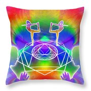 Cosmic Spiral Ascension 17 Throw Pillow