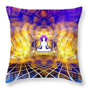 Cosmic Spiral Ascension 18 Throw Pillow by Derek Gedney