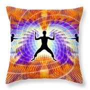 Cosmic Spiral Ascension 19 Throw Pillow