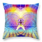 Cosmic Spiral Ascension 20 Throw Pillow