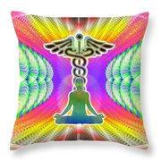 Cosmic Spiral Ascension 21 Throw Pillow