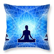 Cosmic Spiral Ascension 22 Throw Pillow