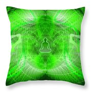 Cosmic Spiral Ascension 24 Throw Pillow