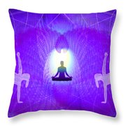 Cosmic Spiral Ascension 28 Throw Pillow